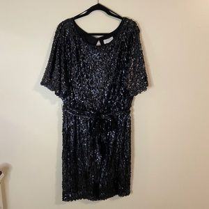 Black sequin Jessica Simpson dress